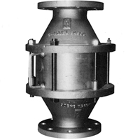 vertical inline deflagration flame arrester