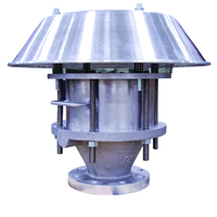 combination flame arrester and free vent